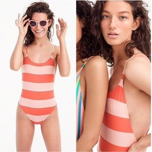 •J.CREW• Playa Striped Newport One Piece Swimsuit